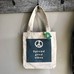 Life is Good - Spread Good Vibes Canvas Tote Bag